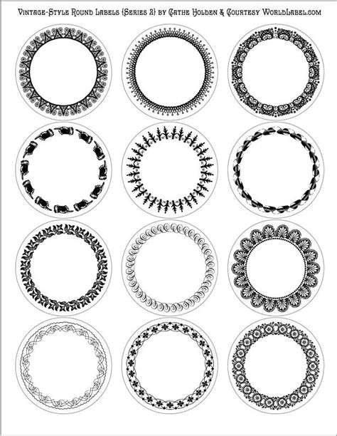 16 Best Images About Round Labels And Round Label Template Printables On Pinterest Free Free Templates For Labels And Tags