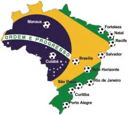 world cup host cities map host cities of fifa world cup 2014 brazil brasil