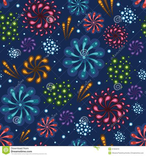 seamless pattern fireworks holiday fireworks seamless pattern background royalty free
