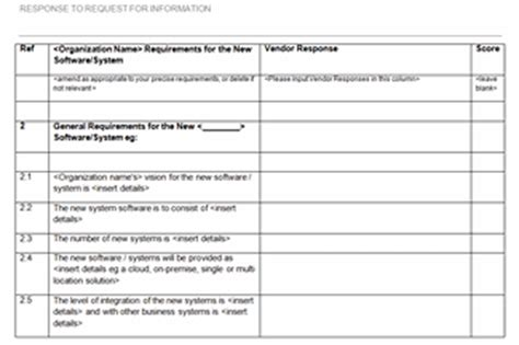 rfi response template request for information template cyberuse