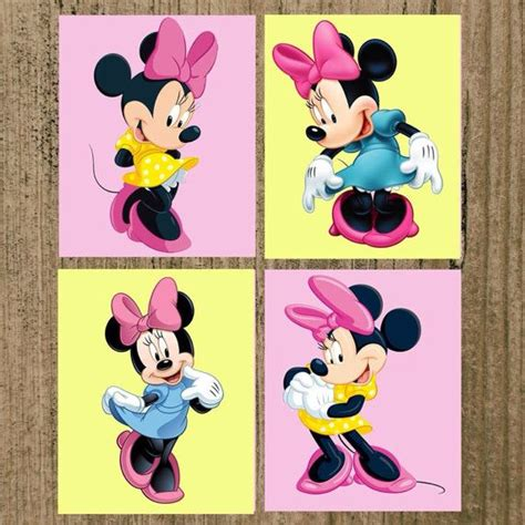 Minnie Mouse Wall Decorations by Minnie Mouse Nursery Prints Set Of 4 8x10 Wall Decor Copy