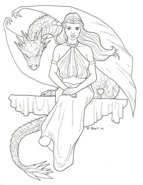 thrones coloring book for adults daenerys targaryen of thrones colouring