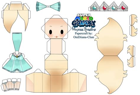 Princess Papercraft - princess rosalina papercraft by ovelayotli on deviantart