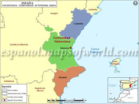 libro valencia y comunidad valenciana mapa comunidad valenciana mapa de la comunidad valenciana