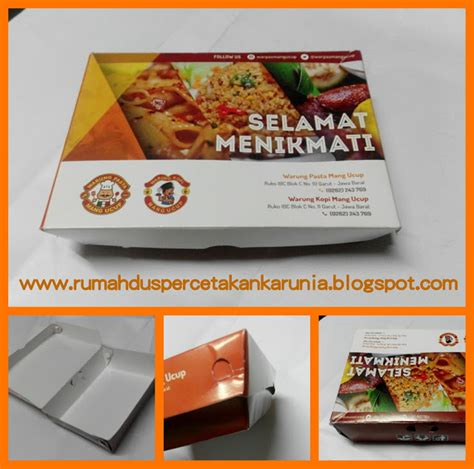 Sticker Food Grade Stiker Tempelan Makanan Plastik Bungkus Bake Cetak rumah dus percetakan karunia