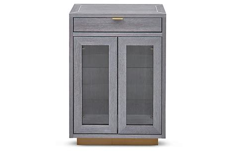 Gray Bar Cabinet Denton Bar Cabinet Gray Brass Bar Carts Cabinets Dining Furniture One