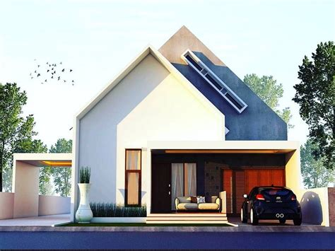 desain rumah minimalis terbaru  lantai  unik tampak depan desain rumah minimalist