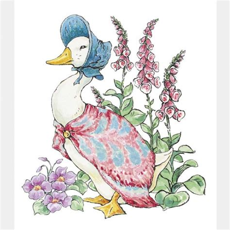 jemima puddle duck small window sticker beatrix potter shop