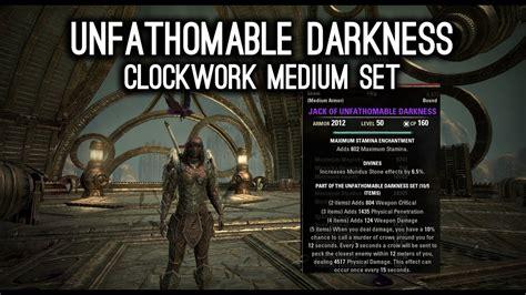 set in darkness a unfathomable darkness medium armor new set clockwork city dlc youtube