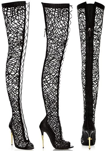 real vs tom ford lace up the knee boots