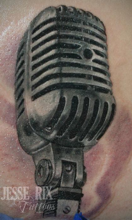 old microphone tattoo designs paradise tattoo gathering tattoos jesse rix old