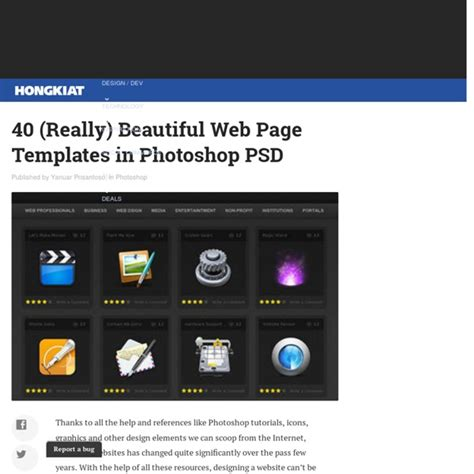 convert photoshop themes into html pages 40 beautiful web page templates in photoshop psd pearltrees
