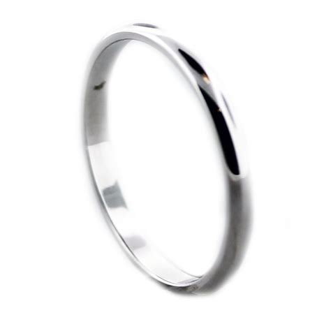 14k white gold thin wedding band boca raton
