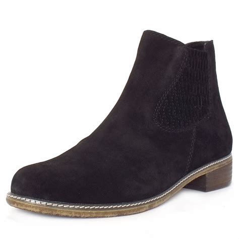 gabor pescara s modern ankle boots in black suede