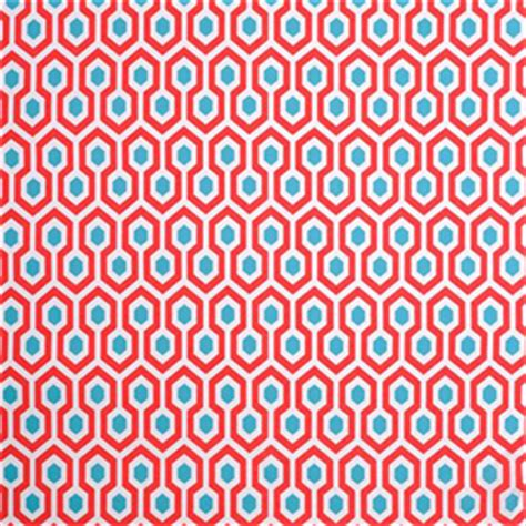 Where To Buy Fabric For Upholstery Geometric Upholstery Fabric Aqua And Red Fabric