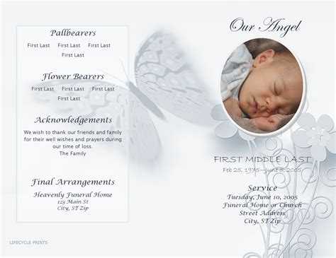 memorial phlets free templates 10 template for funeral programagenda template sle