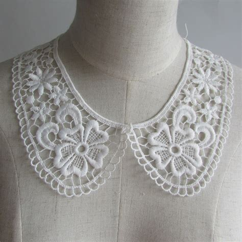 Lace Trim Collar Shirt aliexpress buy 1pcs sell white floral lace collar