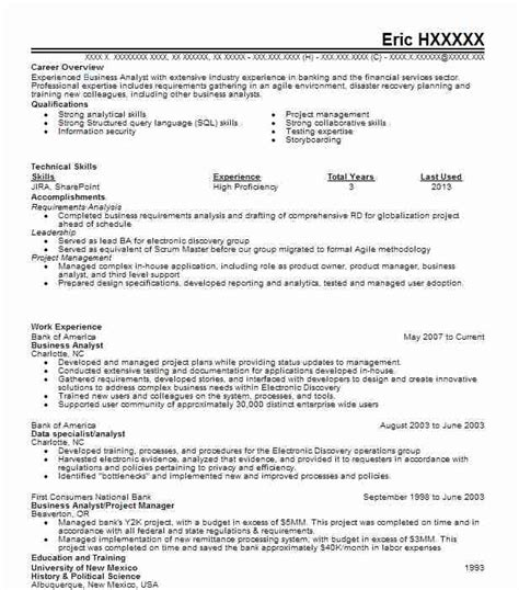 Business Analyst Resume Qualifications by Best Business Analyst Resume Exle Livecareer For