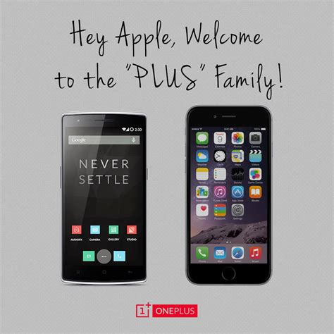 oneplus welcomes apple     iphone     family