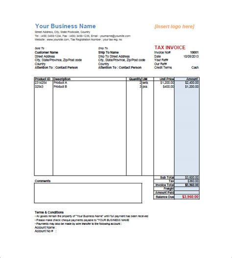 sales invoice excel template sle form biztree com bill of sale invoice template commercial sales invoice