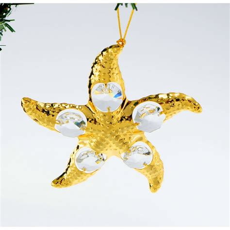 24k gold plated with austrian crystal christmas ornaments