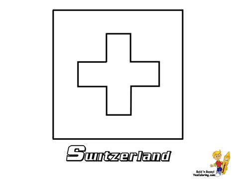 switzerland flag free coloring pages