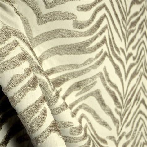 zebra print upholstery fabric balfour linen taupe grey chenille zebra animal skin