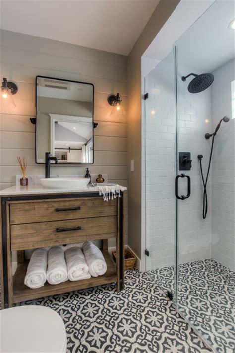 santa monica garage conversion transitional bathroom