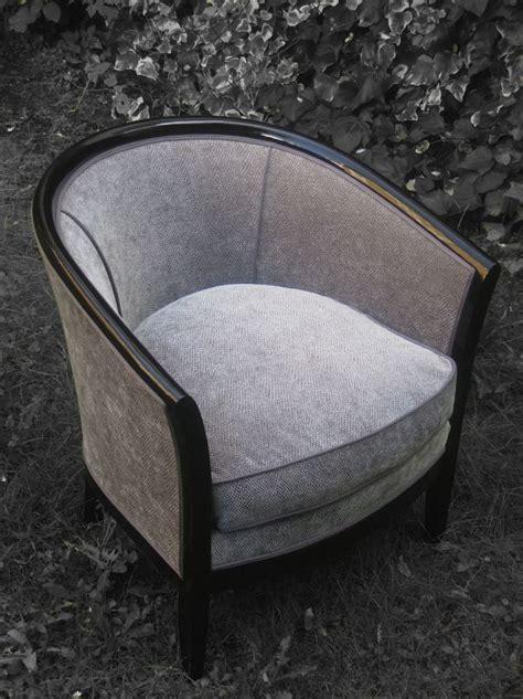 siege tonneau fauteuil tonneau tissu zimmer rohde patine des bois