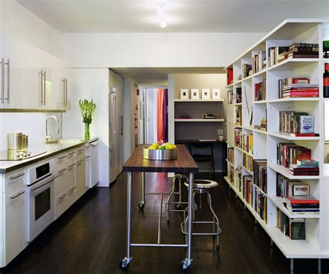 sterling appartments 20 charming ways of adding bookshelves in the kitchen