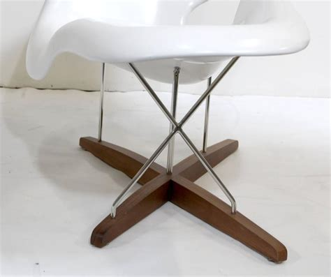 vitra la chaise eames vitra white la chaise chair at 1stdibs