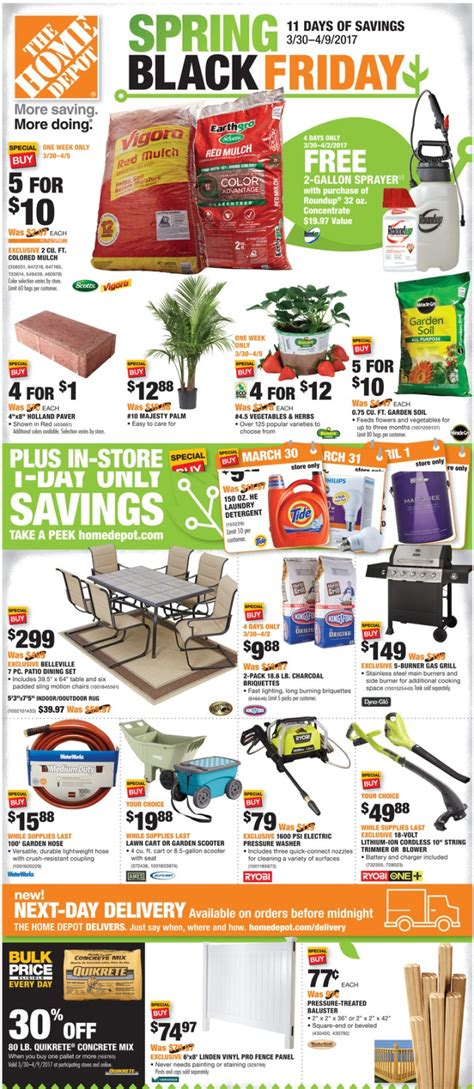 when is home depot black friday insured by ross