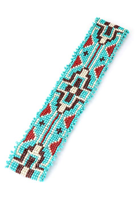 beaded headband patterns seed bead cross pattern headband hair accessories