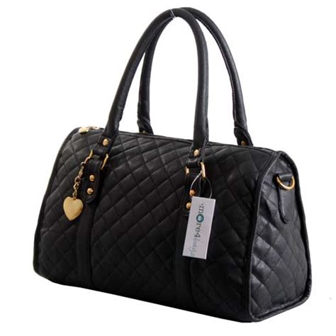 Quilted Designer Handbags by Womens Designer Boutique Style Quilted Faux Leather