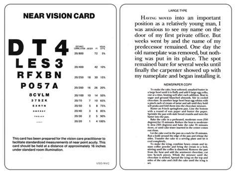 printable eye charts for near vision near vision card