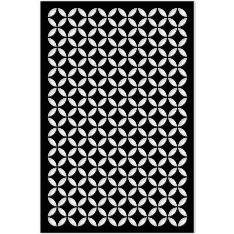 square pattern vinyl lattice acurio latticeworks 1 4 in x 32 in x 4 ft black moorish