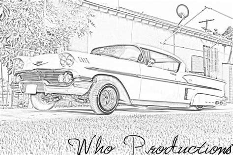 coloring pages of lowrider cars lowrider coloring page of cadillac car