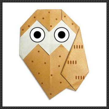 Owl Papercraftsquare Free Papercraft - new paper craft how to make a origami owl on