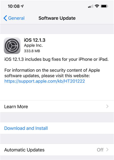 Iphone Update 12 1 Apple Releases Ios 12 1 3 For Iphone And Watchos 5 1 3 For Apple Tmonews
