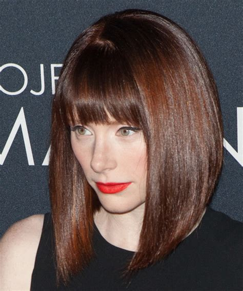 Bryce Dallas Howard Medium Straight Formal Bob Hairstyle
