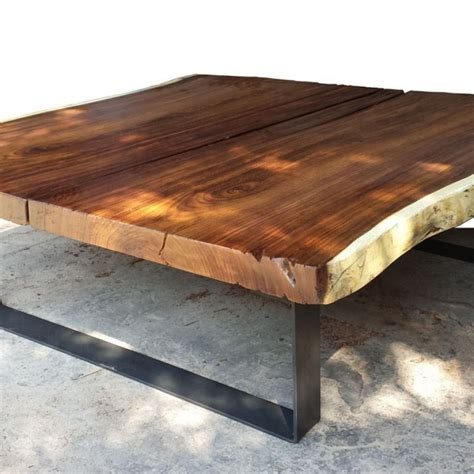 Console Coffee Table - foreign accents live edge slab coffee table