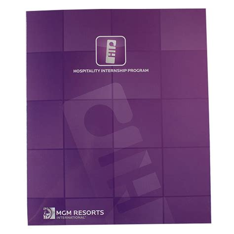 Mgm Resorts Mba Internships by Custom Printed 2 Pocket Portfolio Flap 3 Ring Binder
