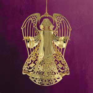 chemart heavenly angel brass christmas ornament