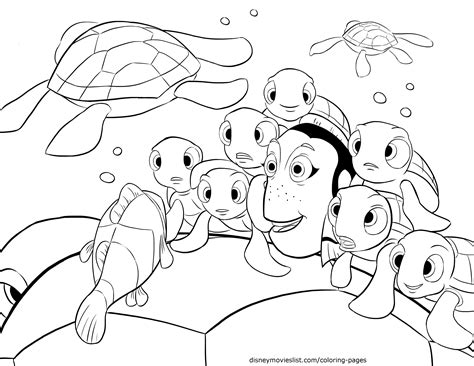 disney nemo coloring pages free disney s finding nemo crush squirt telling stories