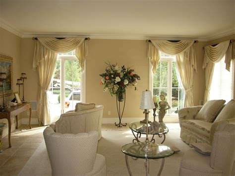 formal living room curtains valances and swags by curtains boutique in nj