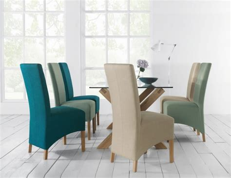 oak glass top dining table and chairs