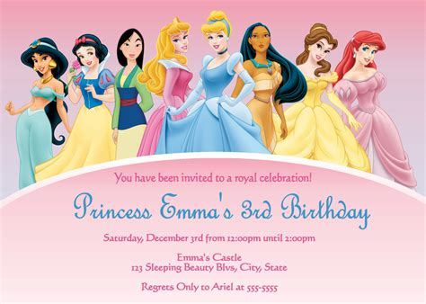 Disney Princess Invitations Template Best Template Disney Templates Free