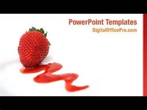 strawberry template strawberry fruit powerpoint template backgrounds
