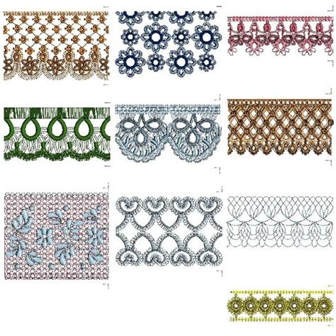 embroidery design lace continuous lace border pack machine embroidery designs