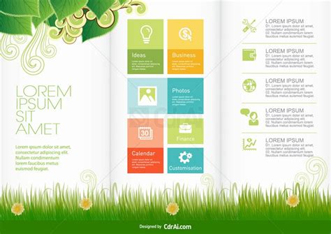 pattern vector cdr free download nature brochure design template vector download eps cdr ai